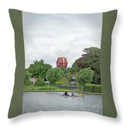 Boating In Thorpeness Throw Pillow