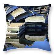 Boating Incident Throw Pillow