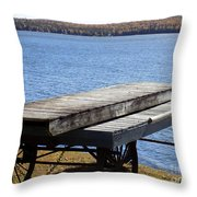 Boating Season Is Over Throw Pillow