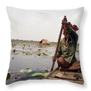 Boatman - Battambang Throw Pillow