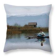 Boatman Throw Pillow