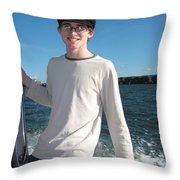 Boatride Throw Pillow