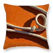 Boatrope Throw Pillow