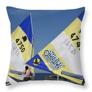 Boats 167 Throw Pillow