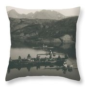 Boats And Kayaks Near Throw Pillow