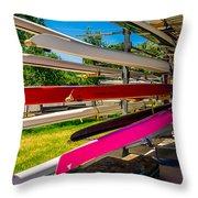 Boats At Dallas Rowing Club Throw Pillow