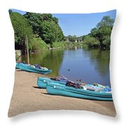 Boats At The Ready Throw Pillow