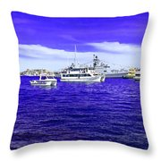 Boats Everywhere 3 Throw Pillow