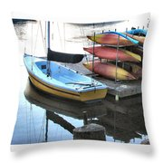 Boats For Rent Throw Pillow