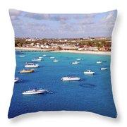 Boats  Grand Turk Throw Pillow