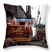Boats In Harbor - 006 Throw Pillow