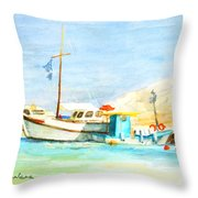 Azure Harbor Throw Pillow