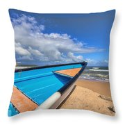 Boats In Mayaro Throw Pillow