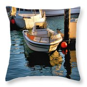 Boats In Morro Bay California Throw Pillow