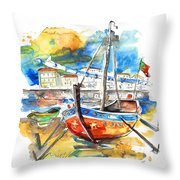 Boats In Tavira In Portugal 02 Throw Pillow