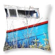 Boats In The Garden Throw Pillow