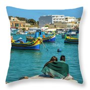 Boats Lovers Throw Pillow