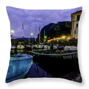 Boats Of The Lake Throw Pillow