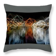 Boats Off The Tripod Throw Pillow