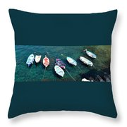 Boats On A Line Throw Pillow