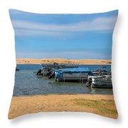 Boats On Silver Lake Michigan Throw Pillow