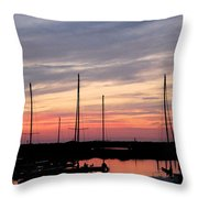 Boats On The Bay Throw Pillow