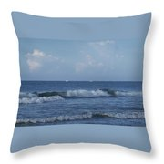 Boats On The Horizon Throw Pillow