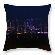 Boats On The Water Throw Pillow