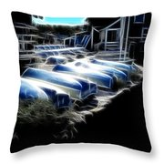 Boats Peggys Cove Throw Pillow