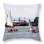 Boats Race Throw Pillow