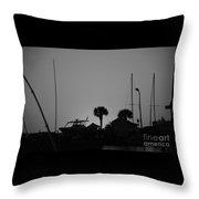 Boatscape Throw Pillow