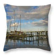 Boatworks 3 Throw Pillow