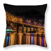 A Winter's Night Throw Pillow