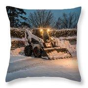 Bob Cat Snow Throw Pillow