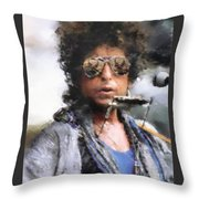 Bob Dillon Throw Pillow