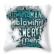 Bob Dylan Blowin In The Wind Throw Pillow