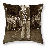 Bob Hope At Pro-am At Pebble Beach California 1953 Throw Pillow