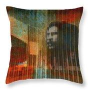 Bob Marley Abstract II Throw Pillow