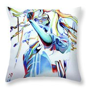 Bob Marley Colorful Throw Pillow