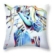Bob Marley Colorful Throw Pillow