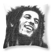 Bob Marley Throw Pillow