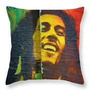 Bob Marley Door At Pickles Usvi Throw Pillow