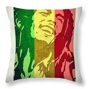 Bob Marley II Throw Pillow