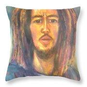 Bob Marley II Throw Pillow