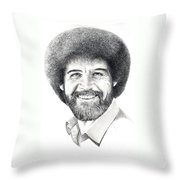 Bob Ross Throw Pillow