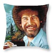 Bob Ross Throw Pillow