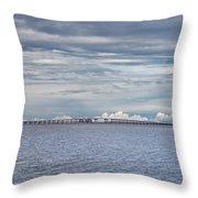 Bob Sikes Bridge Throw Pillow