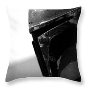 Boba Fett Helmet Throw Pillow by Micah May