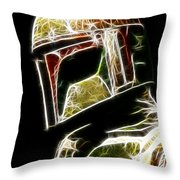 Boba Fett Throw Pillow by Paul Ward
