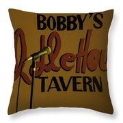 Bobby's Idle Hour Throw Pillow